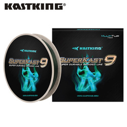 KastKing SuperKast 9 Strand 275m 10-80LB Multifilament PE Braided Fishing Line Smooth Durable Braided Line for Summer Fishing
