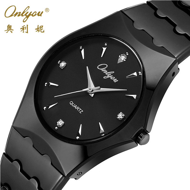 Onlyou Top Luxury Brand Mens Watches Stainless Steel Business Quartz Watch Fashion Dress Watch Male Black Clock relogio 8677 diy cake printing mold
