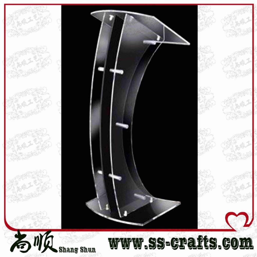 Christan Clear Church Plexiglass Prodium Acrylic Church Pulpit Plexiglass Church Desk