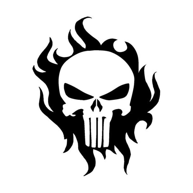 Online Get Cheap Skull Vinyl Decal Aliexpresscom Alibaba Group - Vinyl stickers for motorcycles