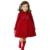Nueva chaqueta de invierno las niñas de otoño de manga larga del bebé niños prendas de abrigo niños cashmere turn down chaqueta de cuello del bowknot