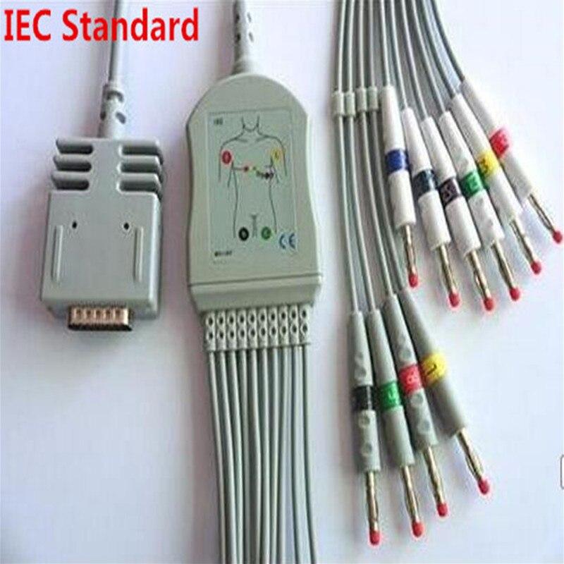 Livraison gratuite Compatible pour Burdick EK10 Elite, Elite II banane 4.0 fin IEC Standard matériau de polyuréthane thermoplastique 3.6 mètre
