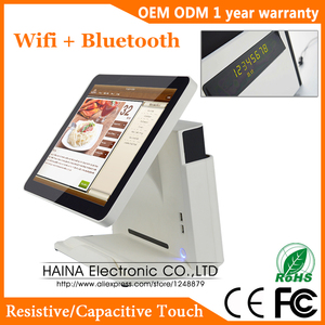 Image 2 - Haina Touch 15 inch Touch Screen Wifi POS System Machine For Supermarket with Parallel Port