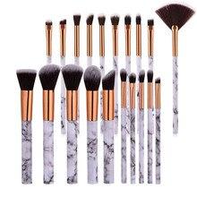 10pcs promozioni pennelli per marmorizzazione texture fondotinta in polvere ombretto kabuki sfumato per occhi strumento cosmetico per trucco in marmo