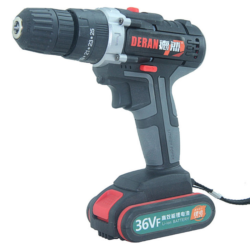 "36V Electric Screwdriver 6500mAh LiIon Battery Rechargeable Cordless 3/8"" Keyless Drill Chuck 2 Speed Screw Driver Power Tool"