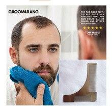 Free shipping Sex Man Gentleman Beard Trim Template hair cut hair molding trim template beard modelling tools