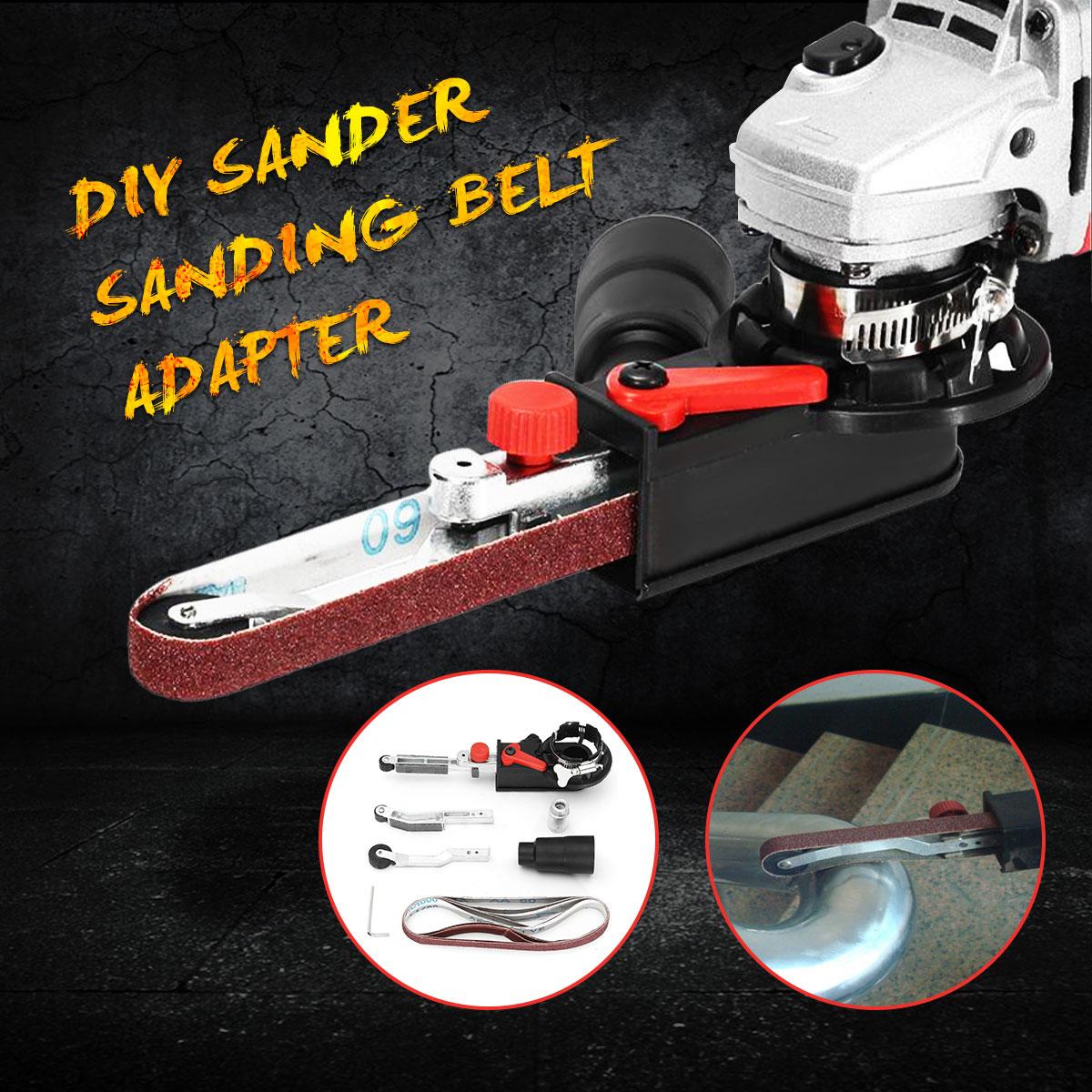 DIY lijadora lijado cinturón adaptador para 115/125 eléctrico amoladora angular con M14 hilo husillo para carpintería Metalworking