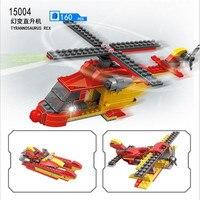 COGO Przekształcić Helikopter Samolot Kreatywny 3 IN1 Magia Zmiana 160 SZTUK Kompatybilny Zabawki Edukacyjne Building Block Prezent Urodzinowy 15004