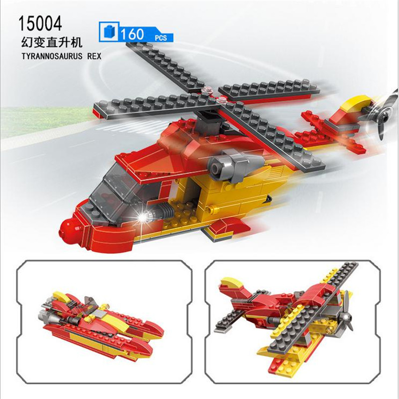 COGO Transform Plane Creative 3 IN1 Magic Change Helicopter 160PCS Educational Building Block Birthday Gift Compatible Toy 15004 promoting social change in the arab gulf
