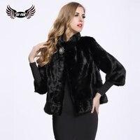 BF FUR New Arrival 2016 Knitted Genuine Mink Fur Coat Women Real Mink Fur Coat Wholesale