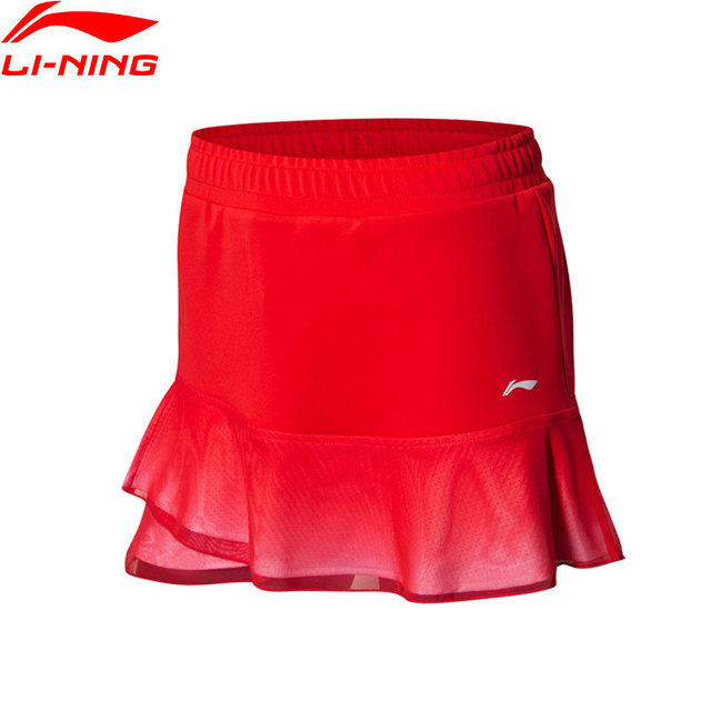 Li-Ning Women Badminton Competition Skirt National Team AT DRY BASE 87%Polyester 13%Spandex LiNing Sports Skirts ASKN006