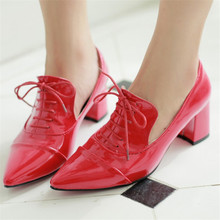 Pointed patent leather shoes Fashion Spring Autumn Women Sexy Pumps Girl And Woman high heels Lady Shoes plus size CX050