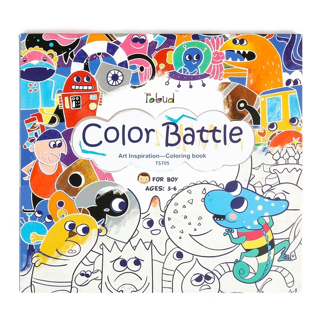 Robud Drawing Toys Paint learning Notebook/Coloring Notebook Coloring Pad,Art Inspiration Coloring Books for Kids & Toddler