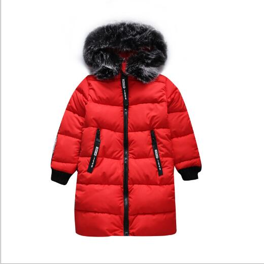 Children's Parkas Hooded Coat Kids Winter jackets Warm Down cotton For Girl clothing Children Overcoat Girl Thick Outerwear girl duck down jacket winter children coat hooded parkas thick warm windproof clothes kids clothing long model outerwear