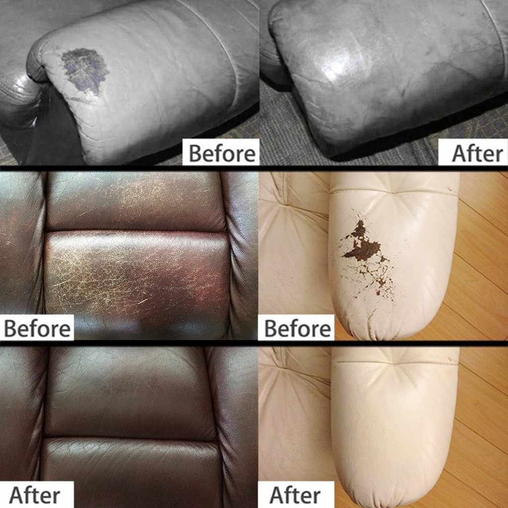 Leather Vinyl Repair Kit Leather Repair Cream Auto Car Seat Sofa Coats  Holes Scratch Cracks Rips Liquid Leather Repair Tool 617