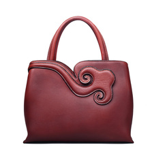 women's genuine leather handbags women's embossed leather national bags