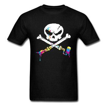 Artist To The Bone 2018 Funky Men's Black T Shirt Graffiti Skull & Crossbones Print Art Design Hippie Hip Hop T-shirt