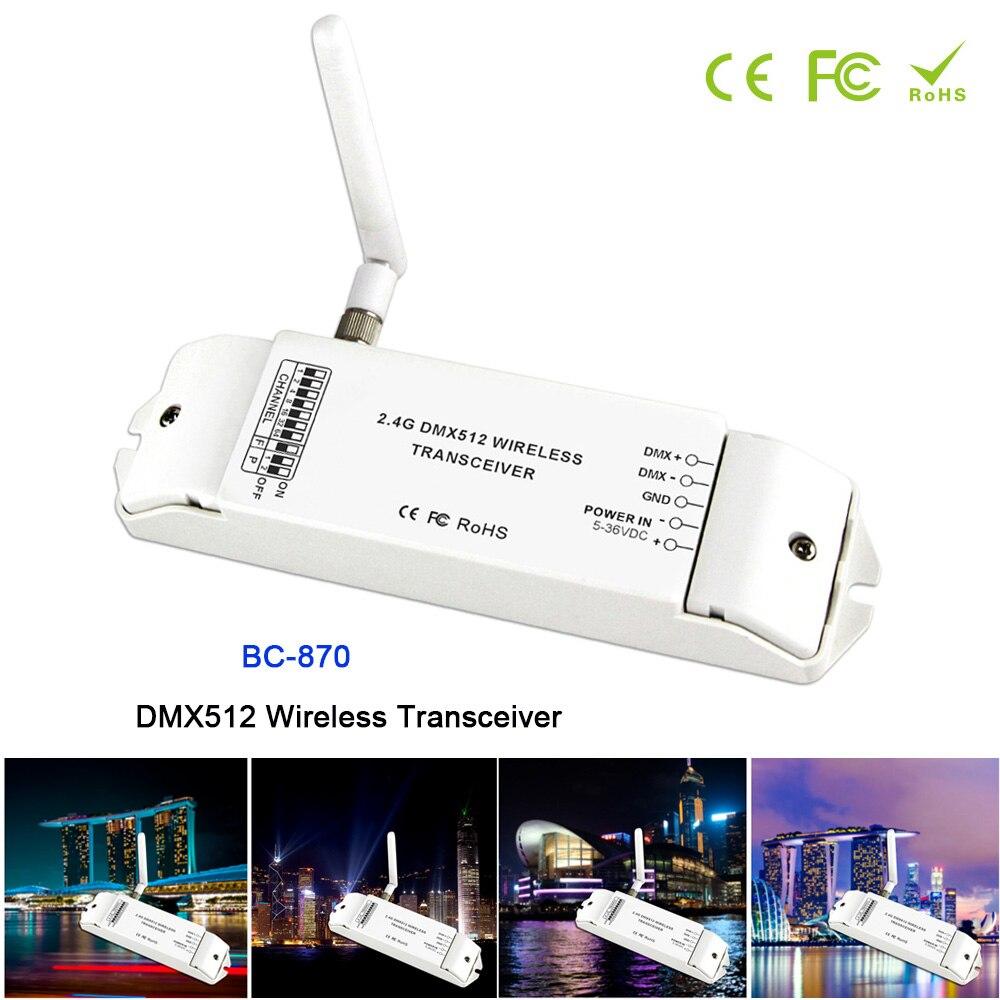 BC-870 DC 5 V-36 V DMX512 émetteur-récepteur sans fil multi-usage DMX signal émetteur ensemble comme récepteur ou émetteur contrôleur