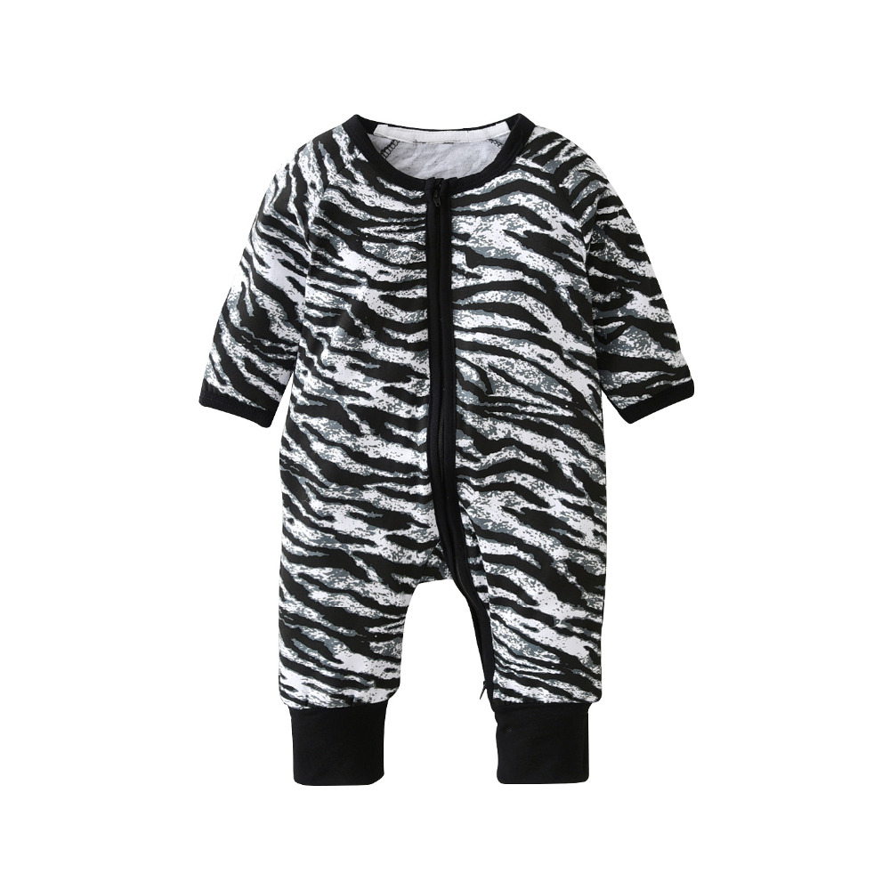 406e3cae2 Newborn Baby Boy Rompers Baby Boys Clothes Long Sleeve Cotton Zebra ...
