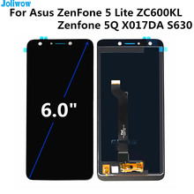 For Asus ZenFone 5 Lite 2018 ZC600KL LCD display+Touch screen Digitizer Assembly for phone Zenfone 5Q LCD X017DA S630 LCD screen original cell phone lcd display touch screen digitizer assembly for asus zenfone 5 a500cg a501cg t00j t00f 5 0 lcd tools