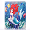 Hot Mermaid and Alice child Cartoon fashion Stand PU Leather Shell cover Case for Apple ipad 2 3 4 5 6  Air 1 Air 2 Case Cover