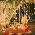 6x1 5 м Светодиодные занавески для сосульки  светодиодные гирлянды для рождественских праздников  уличные/внутренние гирлянды  свадебные укр...