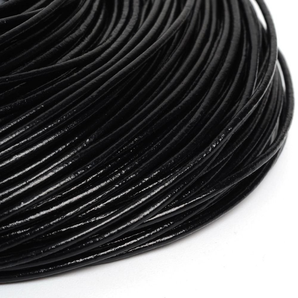 Hot De Bijoux Round Real Leather Jewelry Cord 1.5mm 10M length genuine cow leather cord jewelry cord DIY accessories