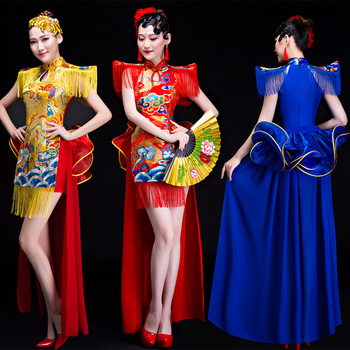 China Drum team performance Costume new Chinese style nightclub dancer costumes for woman