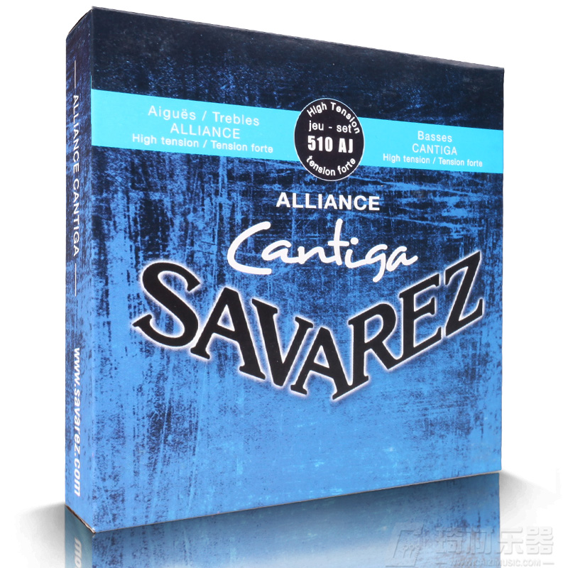 Savarez 510 Cantiga Series Alliance /Cantiga HT Classical Guitar Strings Full Set 510AJ savarez 510ar nylon classical guitar strings high quality performance level guitar strings