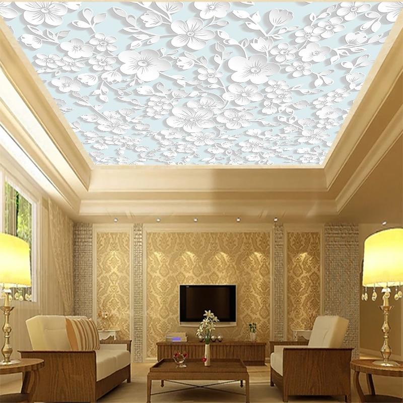 фото декоративных обоев на потолок чистейший пляж белым