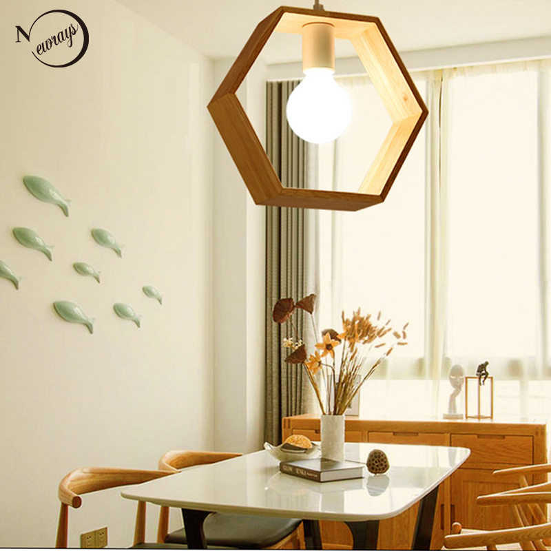 American simple solid wood pendant lights E27 hanging lamp for living room bedroom bathroom aisle balcony restaurant hotel storeAmerican simple solid wood pendant lights E27 hanging lamp for living room bedroom bathroom aisle balcony restaurant hotel store