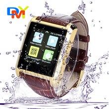 2016 neue Design Bluetooth Smart Uhr DM08 Business Smartwatch Luxus Leder Armbanduhr Für iPhone Für Samsung Android Handys