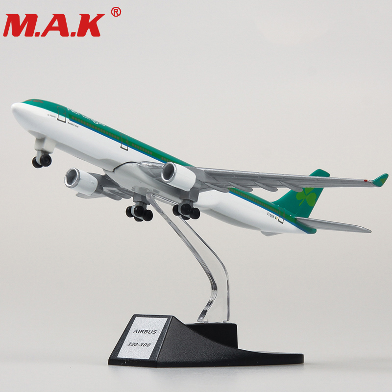 collectible 13cm airplane model toys Ireland airlines airbus 330 aircraft model diecast plastic allory plane gifts for kids image