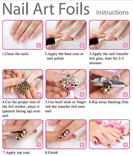 Online Shop 100cmx4cm Gradient Marble Designs Nail Art Foils Sticker ...