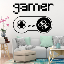 Free shipping gamer Wall Sticker Pvc Art Stickers Modern Fashion Wallsticker For Kids Rooms Diy Home Decoration