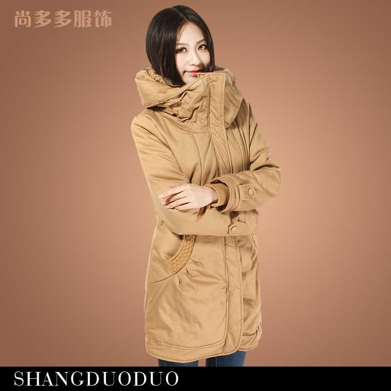 ФОТО New 2015 Winter Women Wadded Jacket Female Outerwear Plus Size Thicken Casual Cotton Padded Wadded Coat Women Parkas H4506