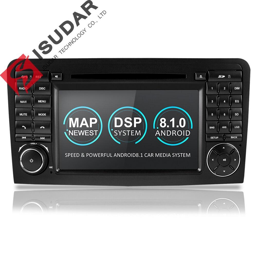 Isudar Deux Din Voiture lecteur multimédia GPS Android 8.1 lecteur dvd Pour Mercedes/Benz/ML/GL CLASSE W164 ML350 ML500 GL320 Radio FM