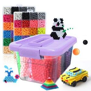 Image 1 - Koraliki DIY woda Magische Kralen Dier Mallen ręcznie Maken Kralen puzzle dzieci Educatief Speelgoed Voor Kinderen Ban Vullen