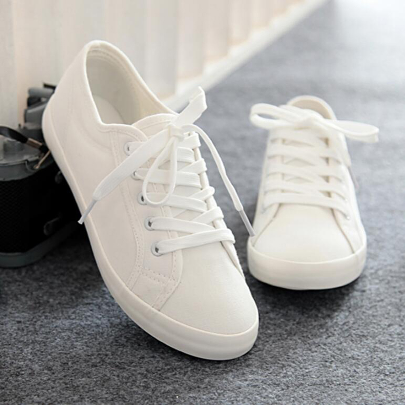 White Shoes 2018 Spring Fashion Women Canvas Shoes Casual Lace Up Women Flats Shoes Breathable cd44 pieces палантин