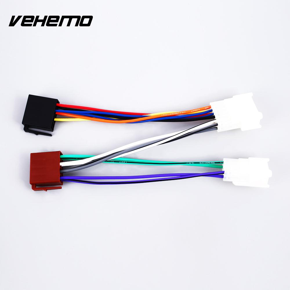 Car Iso Radio Wire Wiring Harness Adapter For Toyota Lexus Daihatsu Chrysler Jeep 1984 2006 Electronics Plug Matched Audio Line Tail Connector Adaptor Dedicated Stereo