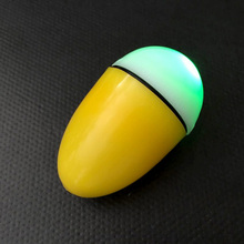 Night Fishing Float With 2 Lithium Batteries ABS Intelligent Electronic Light Bobber Fishing Floats Yellow and White Color