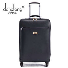 Danxilong 16 18 20 INCH PU Leather Trolley Luggage Business Trolley Case Men's Suitcase Travel Bag high quality women commercial
