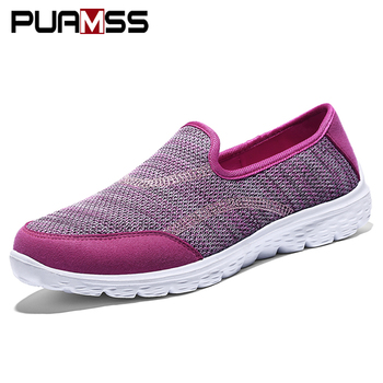 Women Flat Shoes Breathable Comfort Loafers 2019 New Fashion Women Walking Leisure Vacation Casual Shoes Women