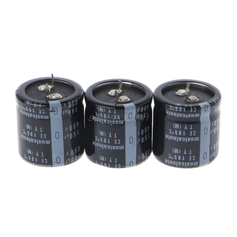 2Pcs Electrolytic Capacitors 450V//150UF Size 25*30MM New Hard Aluminum