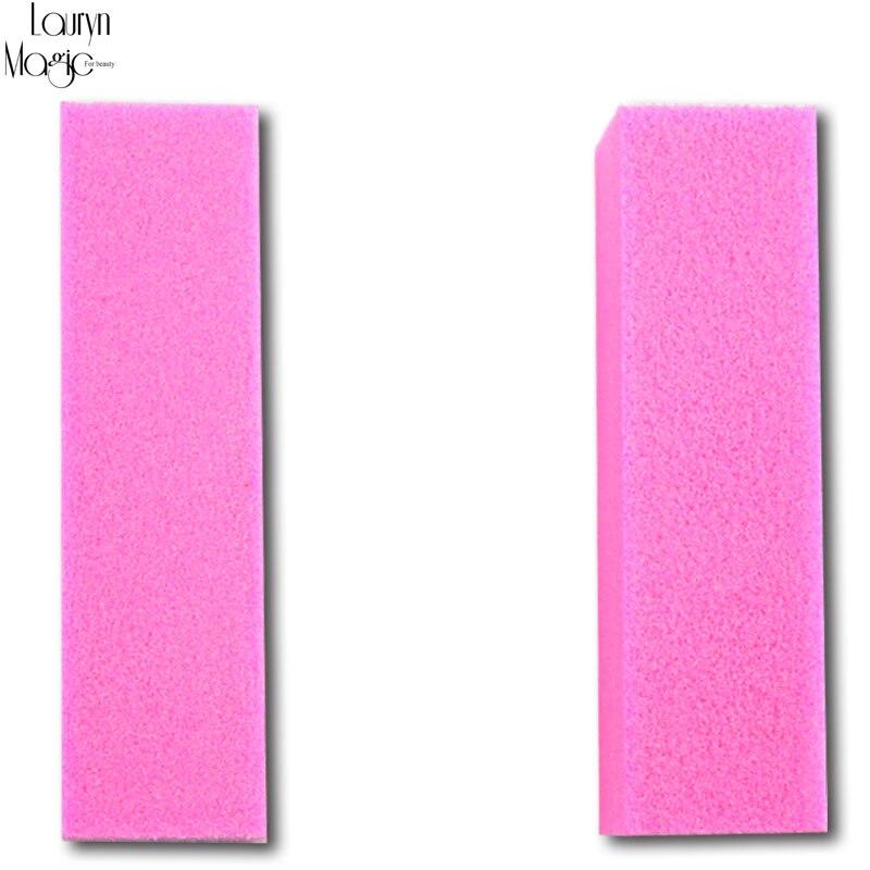 2 pçs/lote colorido Nail Art lixar lustrando bloco de lixa de unhas