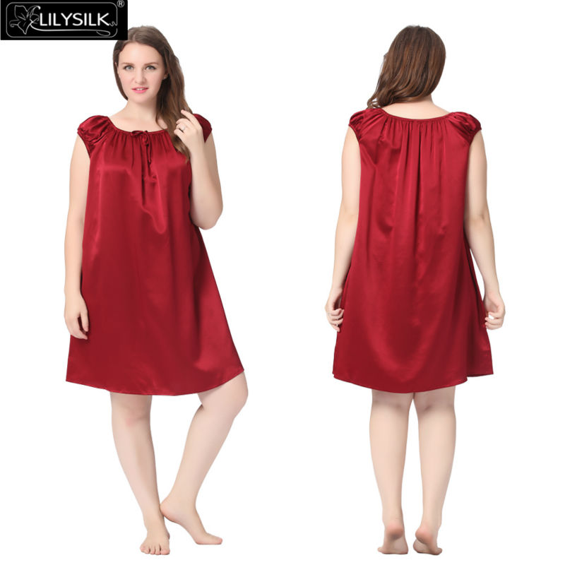1000-claret-22-momme-mid-length-silk-nightgown-with-tied-bust-plus-size-01
