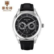 HOLUNS CS004 Смотреть Женева Марка часы мужские многофункциональный двойной календарь световой 24 часов указывает relogio masculino