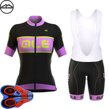 Pro Cycling jersey Set Women Bike clothing clothes Girl Ropa Ciclismo MTB bicycle jersey Top Bib Padded Shorts