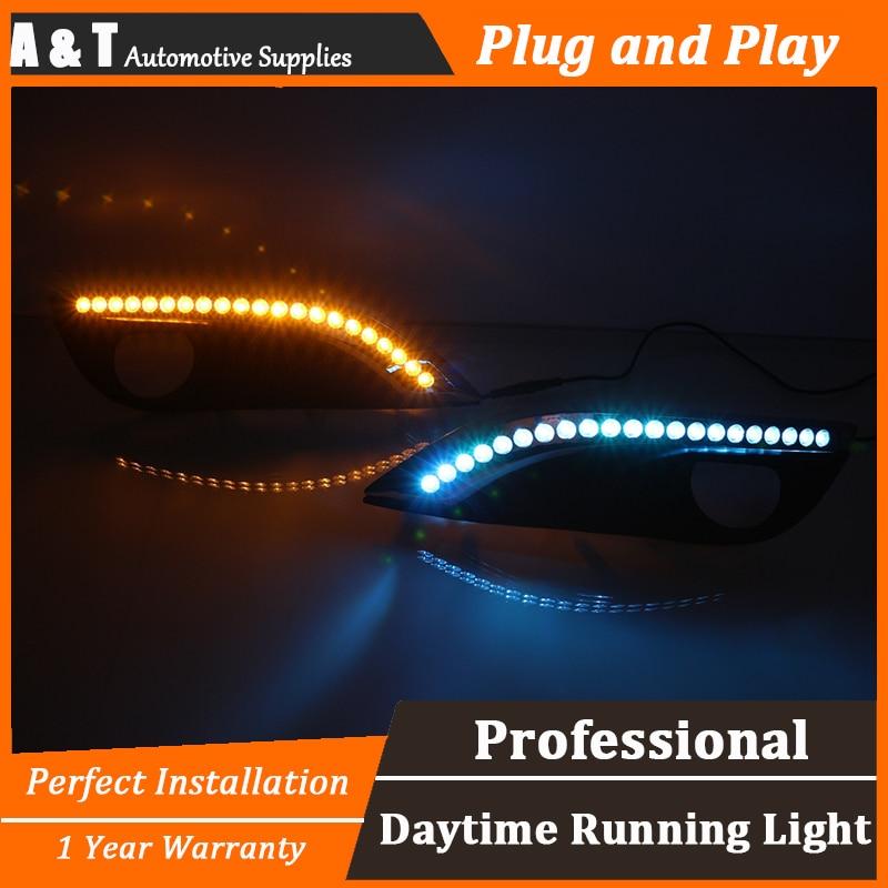 car styling For Peugeot 308 LED DRL For Peugeot 308 High brightness guide LED DRL led fog lamps led daytime running lights