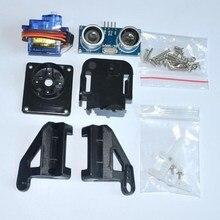 1pcs Ultrasonic Module HC-SR04 + 1pcs 9G SG90 servo motor +1pcs FPV dedicated nylon PTZ for arduino kit